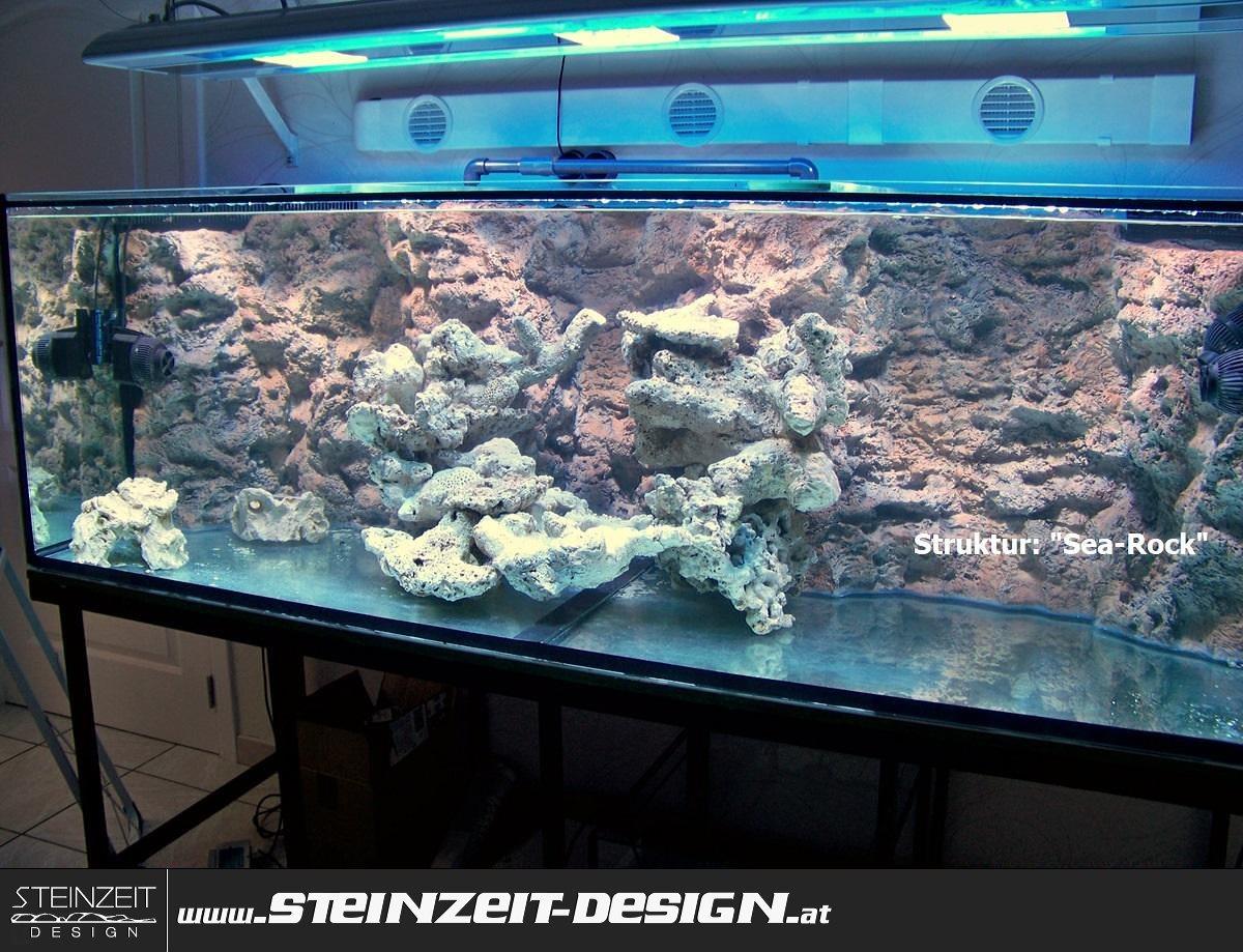 Fabulous Aquarium-Rückwand   Steinzeit-Design   Kunststoff US62