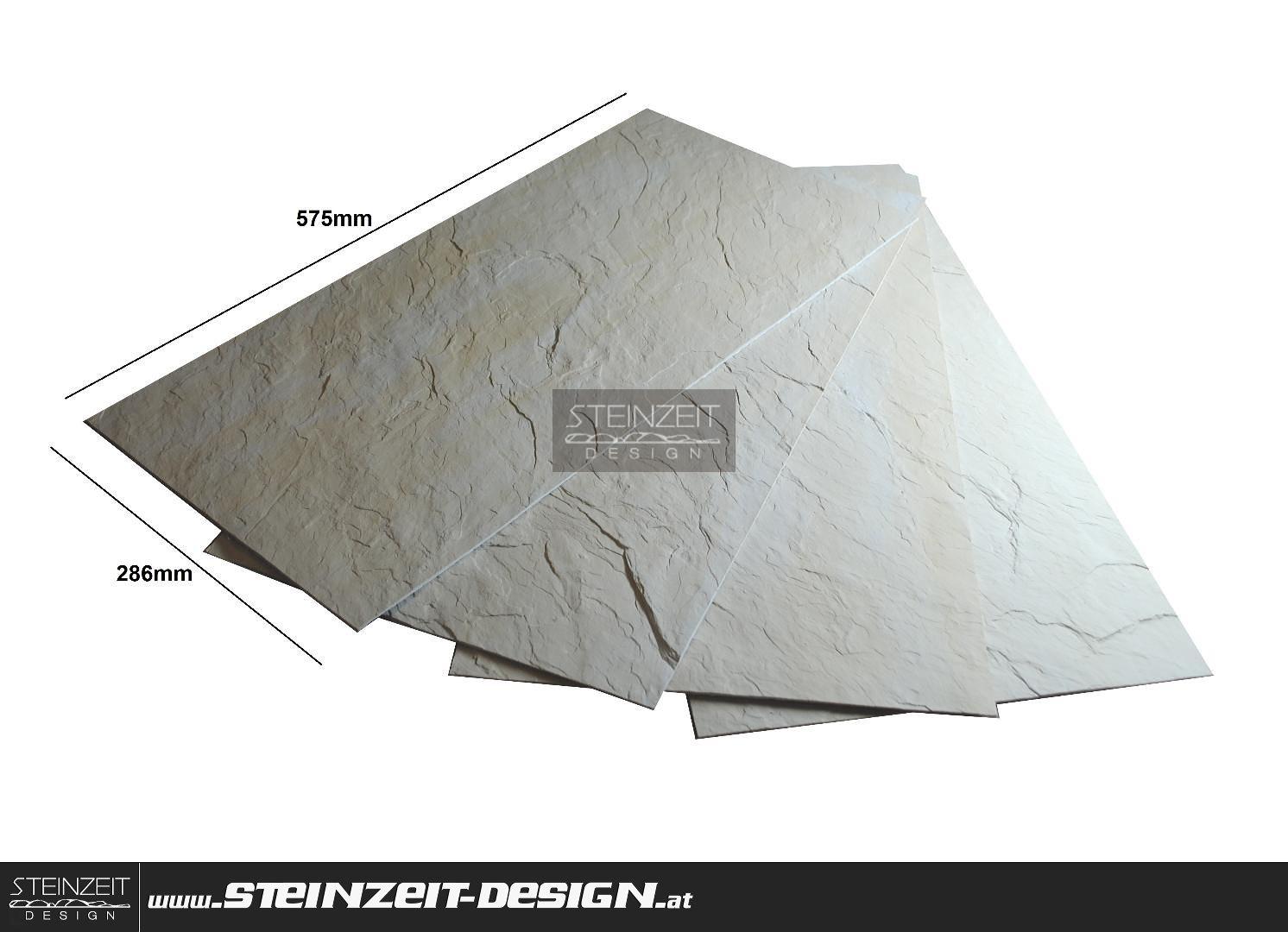 Beliebt Steinzeit Design   Slate Sunny 052056 CREME-BEIGE   Flex-Schiefer AR92