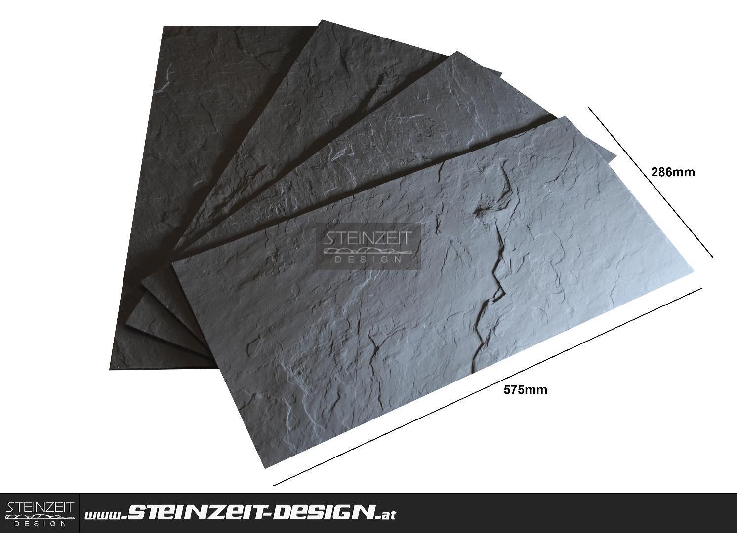 Steinzeit Design Slate Standard 228 Anthrazit Flex Schiefer