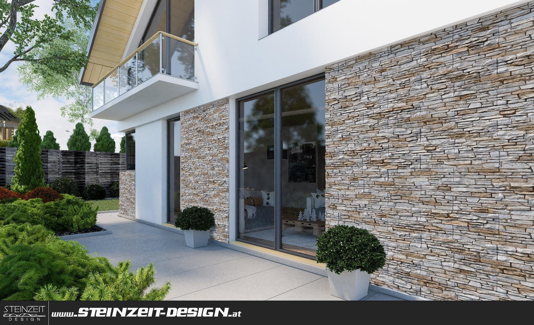 naturstein riemchen innen elegant zonierung des wohnraums durch einen mit schiefer bekleideten. Black Bedroom Furniture Sets. Home Design Ideas